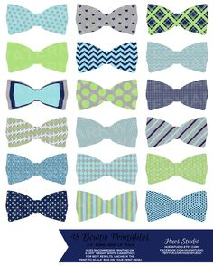 18 Navy Lime Turquoise and Grey BOWTIES / PRINTABLE Party Decor - Hues Studio Printables by HuesPrintables on Etsy https://www.etsy.com/listing/181670349/18-navy-lime-turquoise-and-grey-bowties