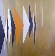 ymutate: Wilhelmina Barns-Graham (British, 1912-2004) Expanding Forms (Movement Over Sand), Touch Point Series 122 x 122 cm. (48 x 48 in.)