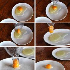 Existem muitas formas de facilitar este processo, confira-as todas! #ovos #claras #comida #dicas