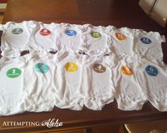 Attempting Aloha: DIY Baby Monthly Onesies and Free Printables