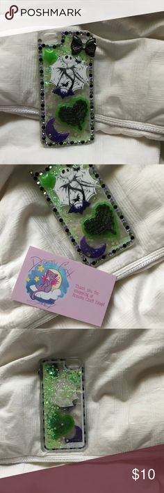 Dreamy Craft Shop waterfall Jack Skellington case Used once , brand new in perfect condition waterfall iPhone 5/5s/SE case. No missing princes or jems, high quality, and comes with The Dreamy Craft Shop Business card that came with the case Accessories Phone Cases