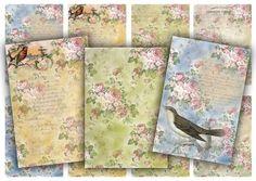 Digital Collage Sheet Download - Floral Pattern Tags -  601  - Digital Paper - Instant Download Printable vintagebyme 3.24 EUR