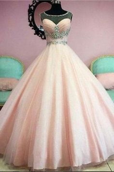 Sparkly Prom Dress, New Arrival Prom Dress,Amazing Pink A-line beading long prom dress,evening dress,formal dress These 2020 prom dresses include everything from sophisticated long prom gowns to short party dresses for prom. Tulle Ball Gown, Ball Gowns Prom, Tulle Prom Dress, Ball Gown Dresses, 15 Dresses, Party Dress, Simple Dresses, Pink Dress, Short Dresses