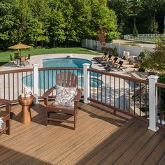Order a sample of Trex® Transcend Spiced Rum composite decking to find out if it's the perfect match for your home.