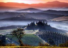 Tuscany Vineyards by photographer Adnan Bubalo