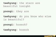 Hoseok is beautiful but so are the other 6 members 😂 Bts Suga, Bts Bangtan Boy, Kpop, Bts Scenarios, Bts Texts, Dad Jokes, Bts Boys, Jung Hoseok, K Idols
