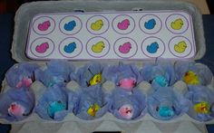 easter- sort the chicks into the egg cartons by matching the pictures.