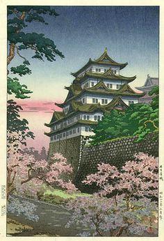 """""""Nagoya Castle"""" by Tsuchiya Koitsu"""