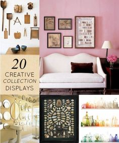 Some great inspiration here for displaying your treasures.