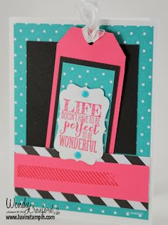 Perfect Pennants Stamp set, Banner Framelits.  Card holding a bookmark.  Great for any occasion.   Occasions 2014 stampin up