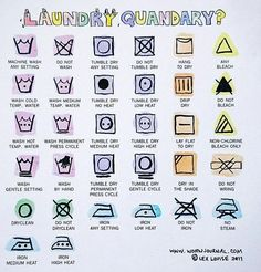 Decode the laundering tags on your clothes!