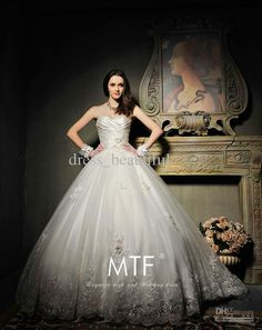 8c8ad86611048 Glamorous A-Line Wedding Dresses Applique Lace Tulle And Taffeta Sleeveless  Sweetheart Neckline Ball Gown