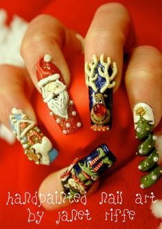 Christmas mani...over the top, but awesome!