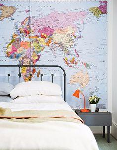 Aussie stylist Jason Grant | Map mural