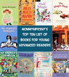 Guest Post: Top Ten List of Books for Young Advanced Readers @mommynificent | Mother Daughter Book Reviews