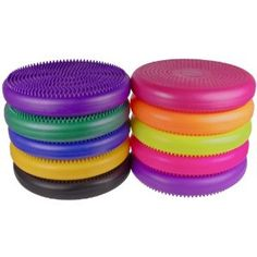 """Isokinetics Inc. Brand Exercise Disc / Balance Cushion - 14"""" Diameter - 10 Colors - these might work instead of exercise balls to sit on for fidgety students - cheaper"""