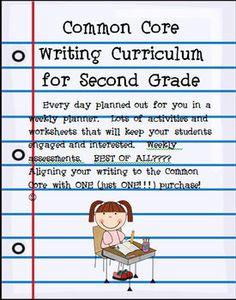 Second Grade Common Core Writing Curriculum...WHHHAAATTTTTTTTYTTYTT?!?!? This is deff worth my $$$