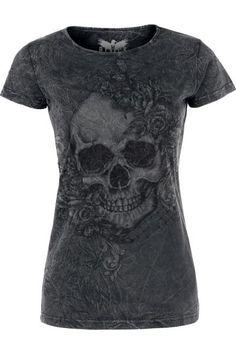 Skull & Roses T-Shirt by Black Premium ~ EMP