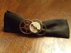 Steampunk vintage watch gears bow tie bowtie by byblackbirddesigns