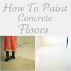 Painting concete floors