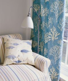 Red, Blue & White - Fairhaven Collection - Jane Churchill Fabrics & Wallpapers