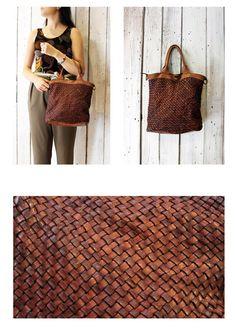 """Handmade woven leather bag """"INTRECCIATO 89 mini"""" di LaSellerieLimited su Etsy"""