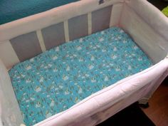 tutorial for any fitted sheet, crib, pack n play, bassinette! Super easy and fast!