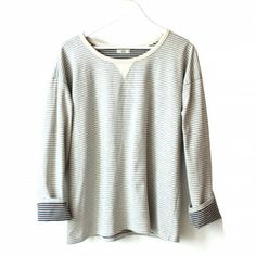 Striped Fleece Sweatshirt