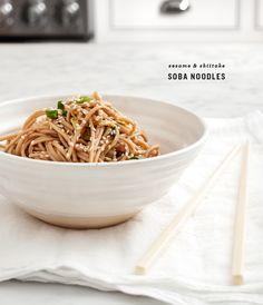 Sesame & Shiitake Soba Noodles / loveandlemons.com