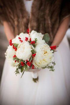 Winter White Peony Bouquet