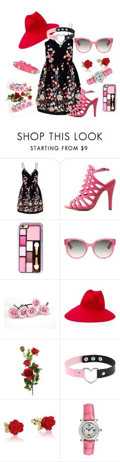"""Untitled #121"" by rosshandmadecrafts ❤ liked on Polyvore featuring The 2nd Skin Co., Charlotte Russe, Gucci, Disney, Chopard and RED Valentino"