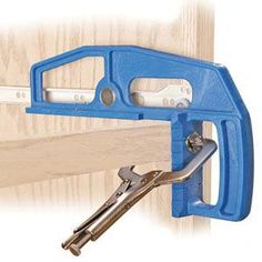 Photo: Courtesy of Kreg Tool Company | thisoldhouse.com | from Drawer-Slide Mounting Tool - I must get one!!! #woodworkingtools