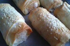 Chicken, Apricot & Cream Cheese Filo Parcels
