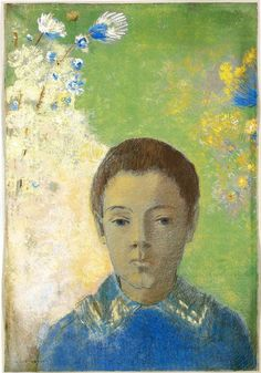 Portrait of Ari Redon, 1898, pastel on paper. The Art Institute of Chicago, Chicago, USA.  Symbolism, Odilon Redon (1840-1916).