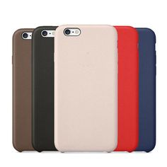 Leather Case Back Cover for iPhone 5 5s SE 6 6s Plus Phone Coque 1:1 Original Copy Soft PU Leather Phone Bags Cases with LOGO | iPhone Covers Online