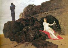 Ulisse e Calipso, Arnold Bocklin, 1883, Basilea, Kunstmuseum