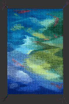Night Life - Stephanie T. Hoppe wool warp and weft