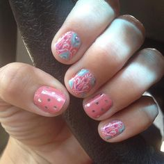 """faded deco"" found @ http://taraslovelyjams.jamberrynails.net/product/faded-deco#.VFvyHuewEWI ""icy rose polka"" found @ http://taraslovelyjams.jamberrynails.net/product/icy-rose-polka#.VFvyM-ewEWI"