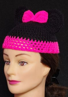 crochet baby girl hat minnie