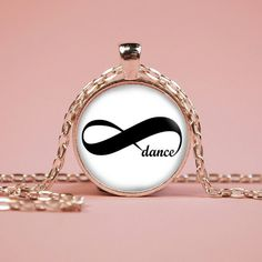Infinity Dance Eternity Pendant Necklace or Keyring Glass Art Print Jewelry Charm Gifts for Her or Him