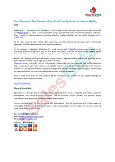 esalesdata-proudly-launches-lawyer-mailing-list by eSalesData via Slideshare