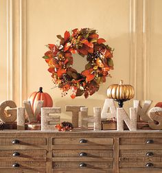 "Proclaim your gratitude from the mantel or a tabletop tableau with our hand-wrapped jute letters that spell out ""Give Thanks"" – you'll only find them here."
