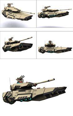 Tank... As in grav tank (and a nice 'Un too!)...