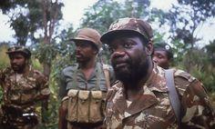 UNITA leader Jonas Savimbi photographed by Michael Sullivan in central Angola.