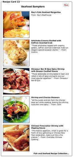 Recipe Collection: Seafood Samplers - Recipelink.com