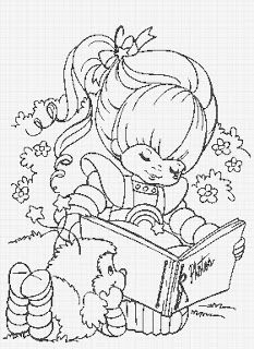Rainbow Brite color page cartoon characters coloring pages