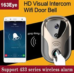 Wide View 110degree 720P HD Visual Intercom WIFI door bell support TF Card record >>> Want additional info? Click on the image-affiliate link. #HomeSecurityCameras