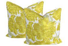Pair of Christopher Farr pillows on OneKingsLane.com | Definining a Style: Bohemian Elegance | Design Dish blog by Emily LaMarque