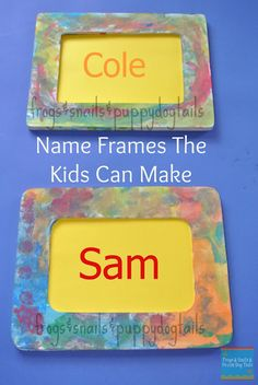 Name Frames- Fun To Make & {help kids learn their name} (FSPDT):