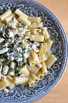 Chicken and Spinach in Feta Cream Sauce